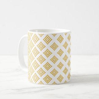 Taza De Café Forma del romboide del purpurina del oro