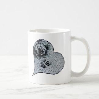 Taza De Café Forma hecha a mano del corazón