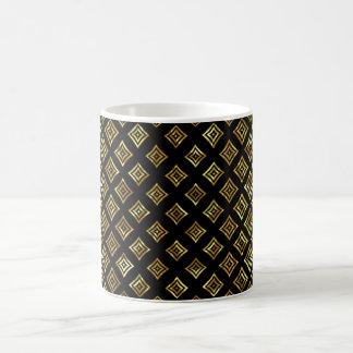 Taza De Café Formas geométricas brillantes del oro