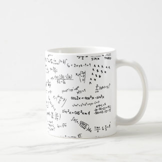 Taza De Café Fórmulas y números de la matemáticas
