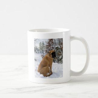 "Taza De Café Foto inglesa actitud de la nieve"" del perro del"