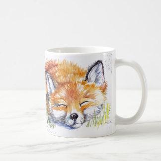 Taza De Café Fox el dormir