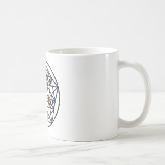 Taza De Café Fractal sagrado de la geometría de la abundancia