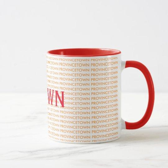 Taza de café fresca de Provincetown