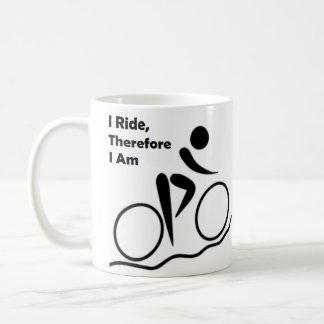 Taza de café fresca para los fans Biking