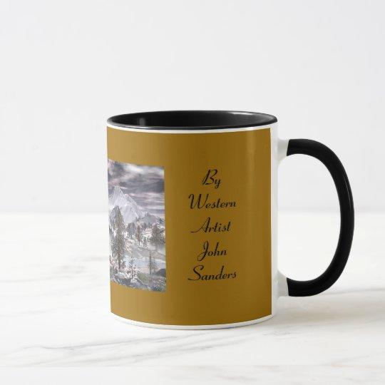 Taza de café fría del coyote