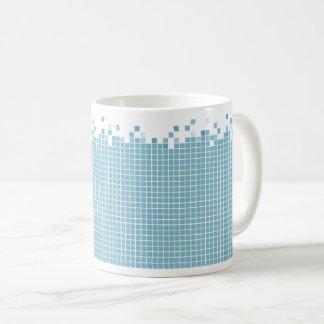 Taza De Café Friki azul de los pixeles