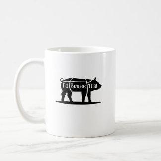 Taza De Café Fumaría esa barbacoa del Bbq del cerdo del cerdo