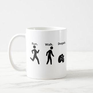 Taza De Café Funcionamiento. Paseo. Desesperación. Maratón