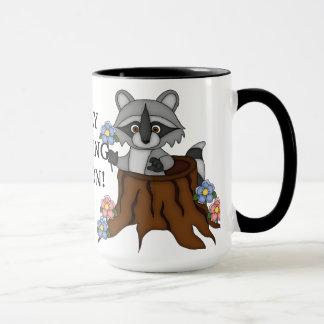 Taza de café gallarda de la persona de la mañana