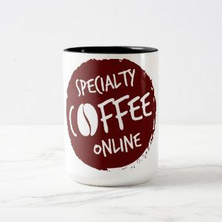 Taza de café gastrónoma en línea del café de la