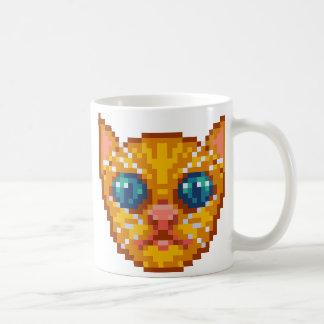 Taza De Café Gatito del Pixel-Arte