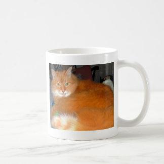 Taza De Café Gato anaranjado grande