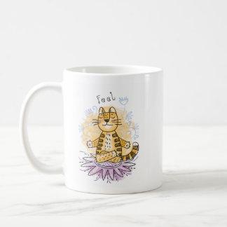 Taza De Café Gato de la yoga