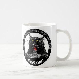 Taza De Café Gato del laser de la dominación de C4SS
