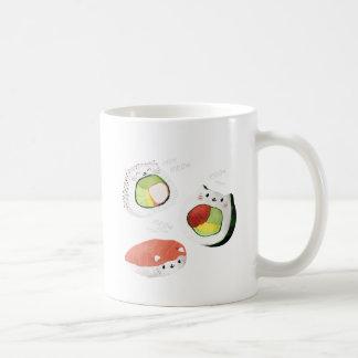 Taza De Café Gato lindo del sushi