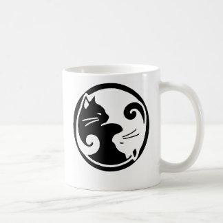 Taza De Café Gatos de Yin Yang