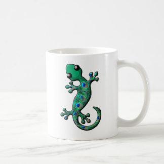 Taza De Café Gecko del pavo real