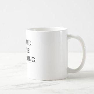 Taza de café genérica con el texto satírico