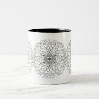 taza de café geométrica de dos tonos