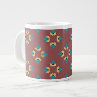 Taza de café geométrica del diseño del árbol