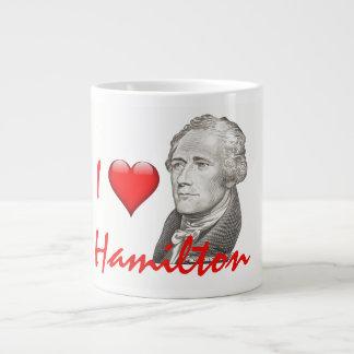 """Taza De Café Gigante """"Amo el retrato de Hamilton"""" Alexander Hamilton"""