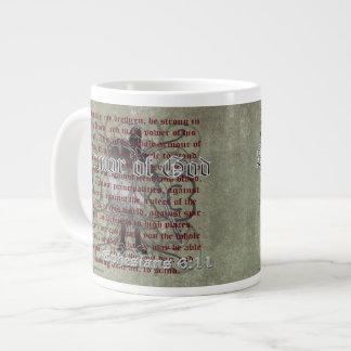 Taza De Café Gigante Armadura de dios, 6:10 de Ephesians - 18, soldado