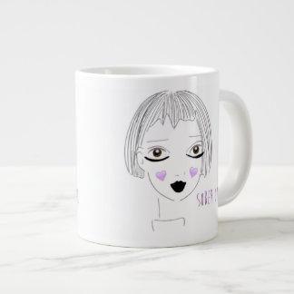 Taza De Café Gigante El chica sobrio ama el café
