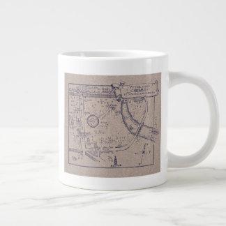 Taza De Café Gigante El mapa de Peter Pan de los jardines de Kensington
