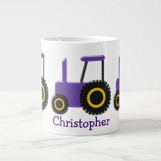 Taza De Café Gigante El tractor púrpura apenas añade nombre