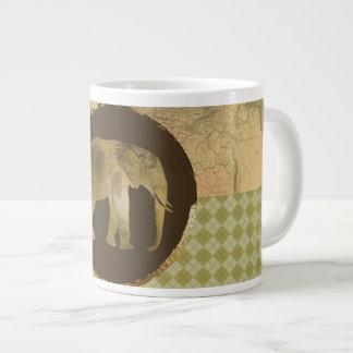 Taza De Café Gigante Elefante africano en mapa y Argyle