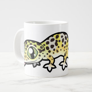 Taza De Café Gigante Gecko del leopardo del dibujo animado