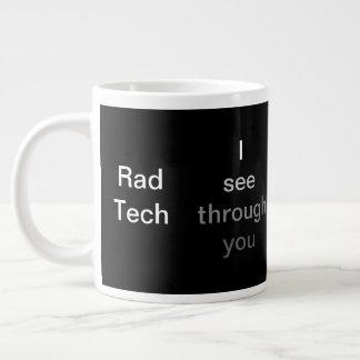 Taza De Café Gigante Le veo a través, tecnología del Rad