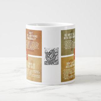 Taza De Café Gigante Los cuatro acuerdos