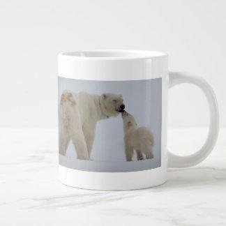 Taza De Café Gigante Madre del oso polar con Cub