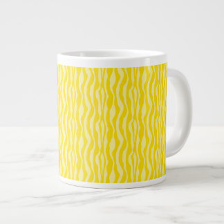 Taza De Café Gigante Modelo amarillo del estampado de zebra