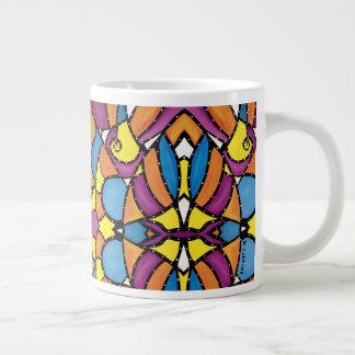 Taza De Café Gigante Modelo colorido abstracto moderno