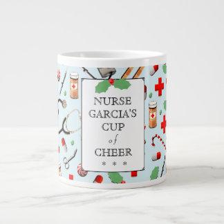 Taza De Café Gigante Navidad de la enfermera