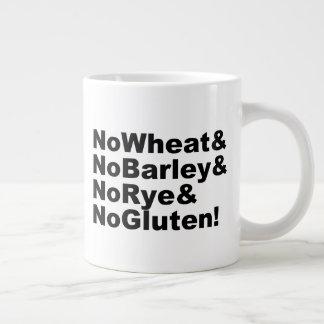 Taza De Café Gigante ¡NoWheat&NoBarley&NoRye&NoGluten! (negro)