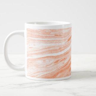 Taza De Café Gigante Piedra de mármol anaranjada apacible