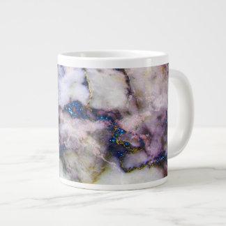 Taza De Café Gigante Piedra y purpurina de mármol coloridos