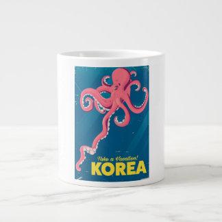 Taza De Café Gigante Poster de las vacaciones de Corea