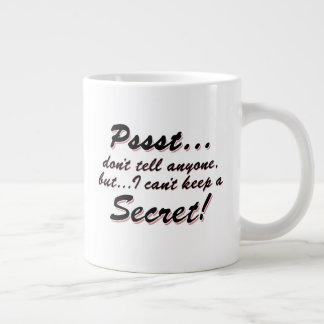 Taza De Café Gigante Pssst… no puedo guardar un SECRETO (el negro)