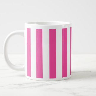 Taza De Café Gigante Rayas verticales rosadas