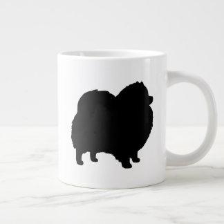 Taza De Café Gigante Siluetas negras de Pomeranian