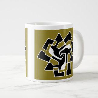 Taza De Café Gigante Tri Flecha extranjera del logotipo