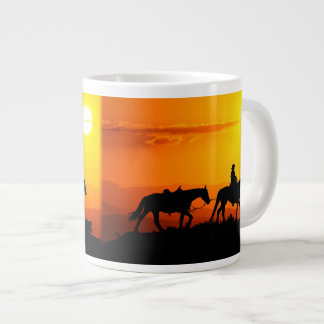 Taza De Café Gigante Vaquero-Vaquero-Tejas-occidental-país occidental
