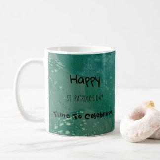 Taza De Café Globos del verde del día de St Patrick feliz