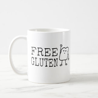 Taza De Café Gluten libre - sátira divertida linda del