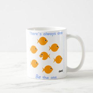 Taza De Café Goldfish lindo inspirador de motivación del dibujo